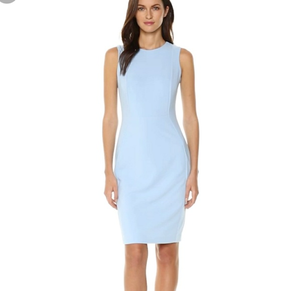 fea0e3ac246 Calvin Klein Dresses   Skirts - Calvin Klein Light Blue Scuba Crepe Sheath  Dress